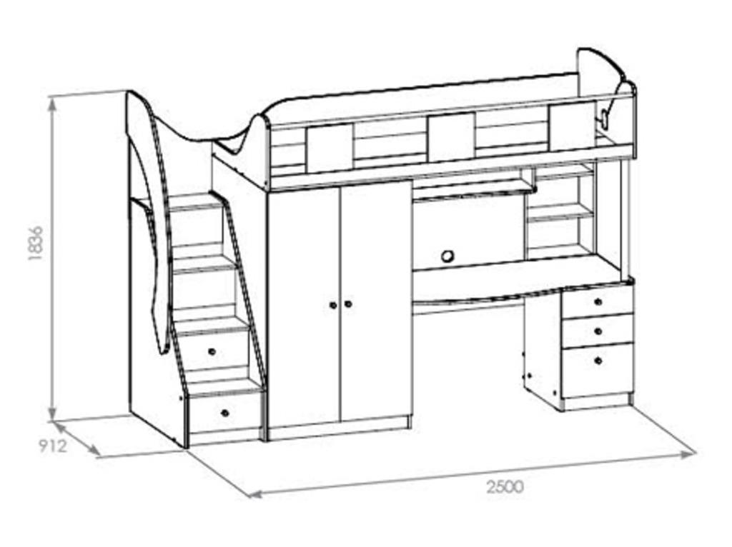 чертежи двухъярусных детских кроватей в канаде